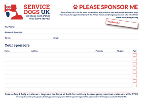 Service Dogs UK | Fundraising Materials | Sponsor Me